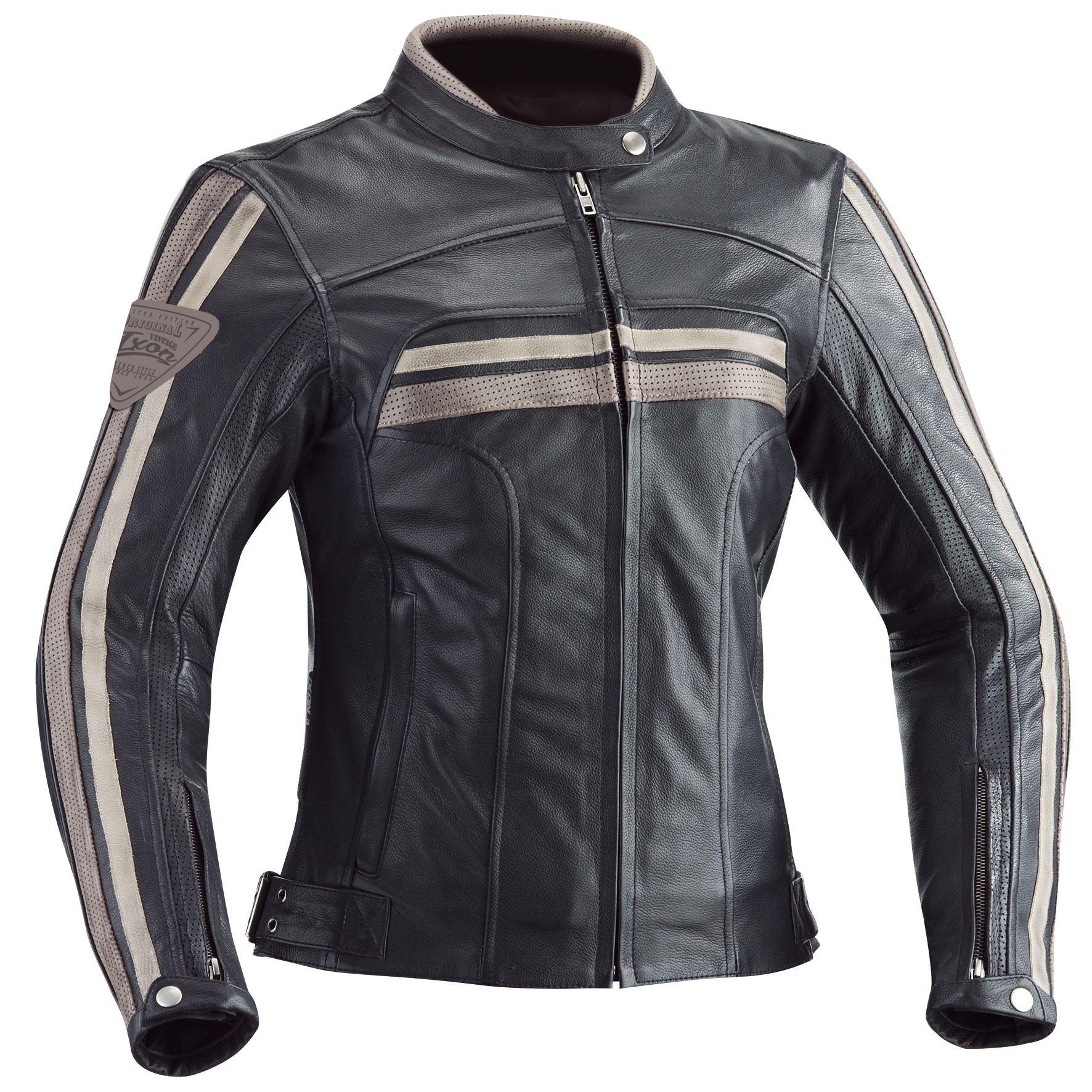 Ixon woman leather jacket Heroes black beige