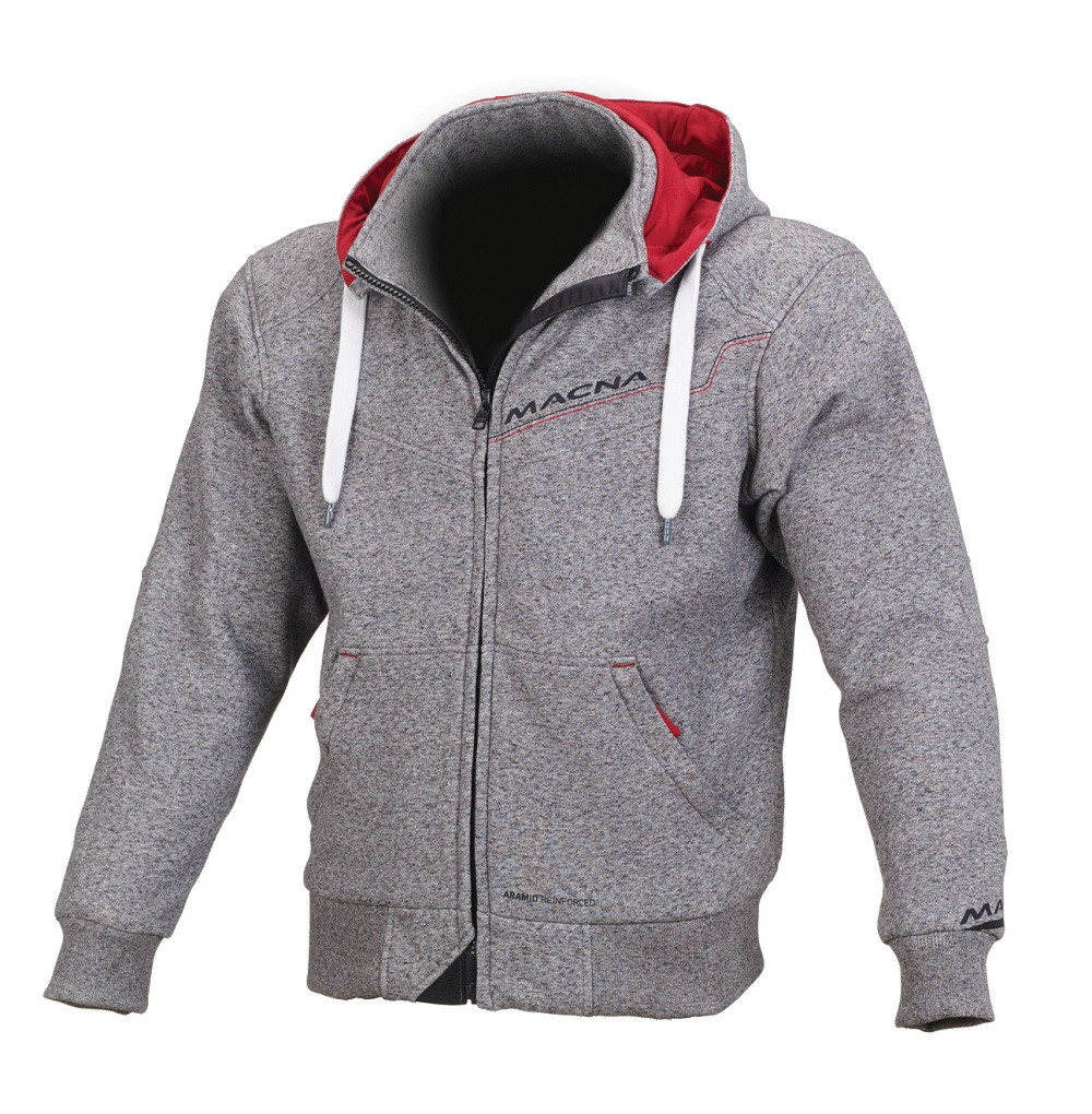Macna summer jacket Freeride light grey red