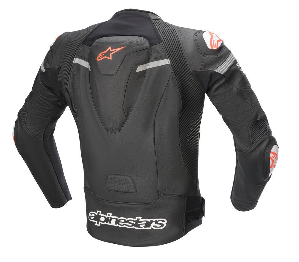 Pantaloni Moto Missile V2 Leather Pants Black White Red Fluo Alpinestars