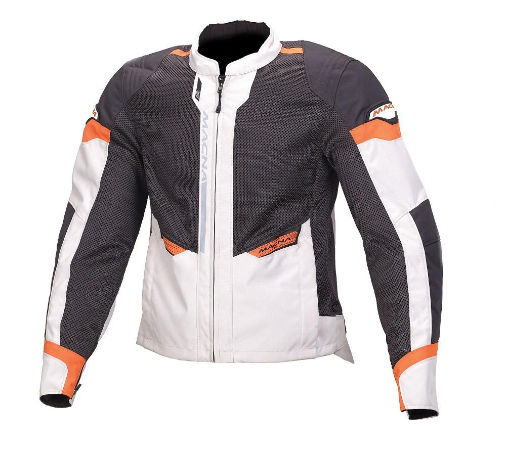 Macna touring summer jacket Event light grey black orange