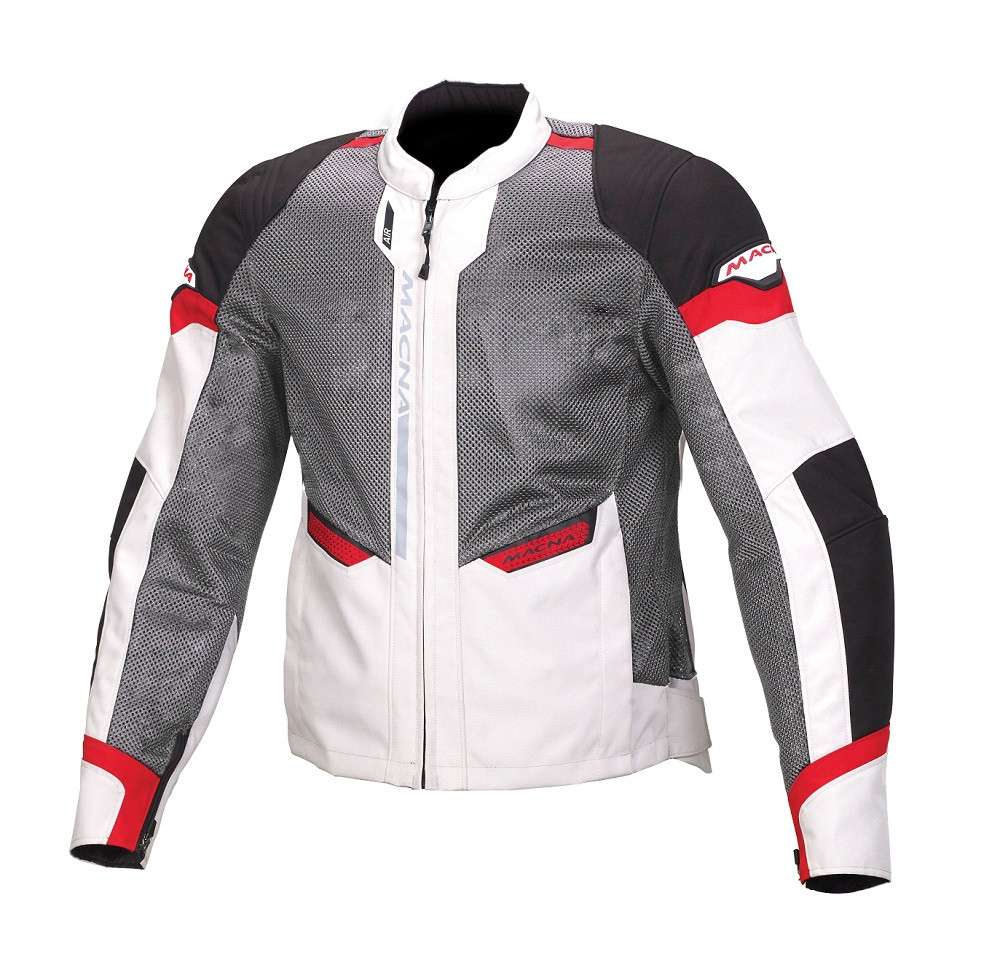 Macna touring summer jacket Event black grey red
