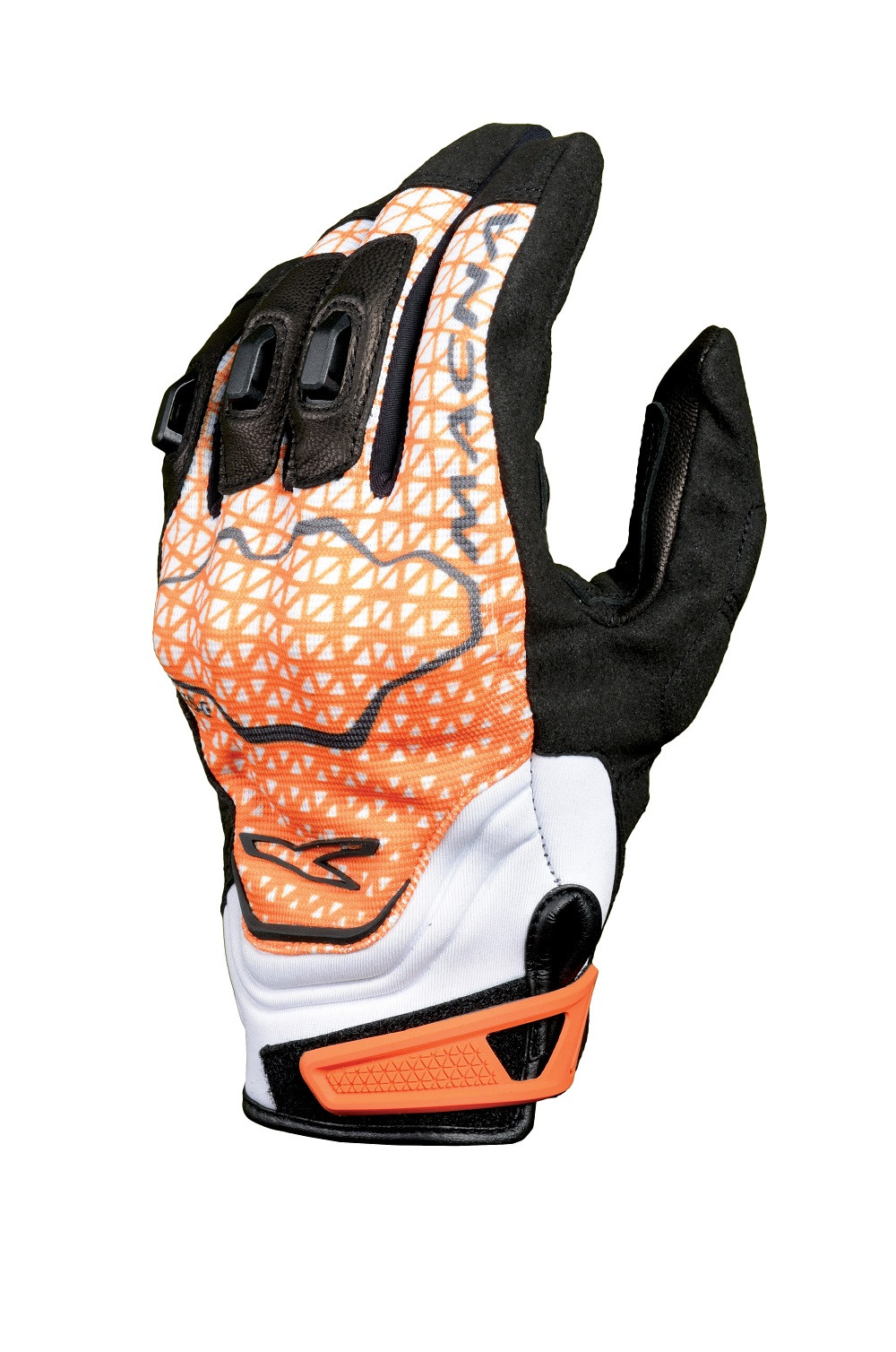 Macna leather summer gloves Assault black orange