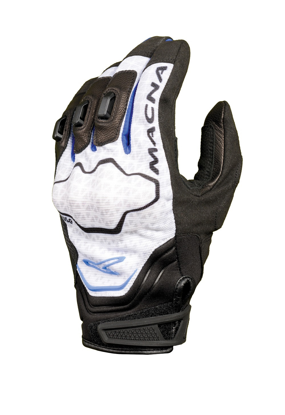 Macna leather summer gloves Assault black blue