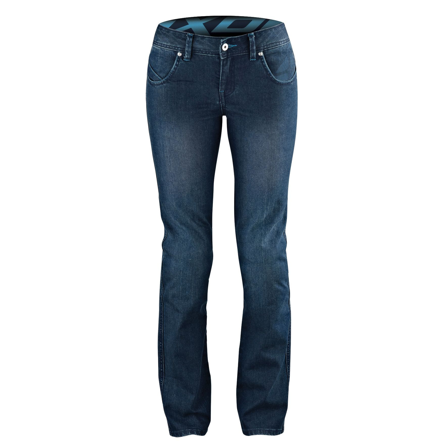 Ixon woman jeans Britney with Kevlar reinforcements navy