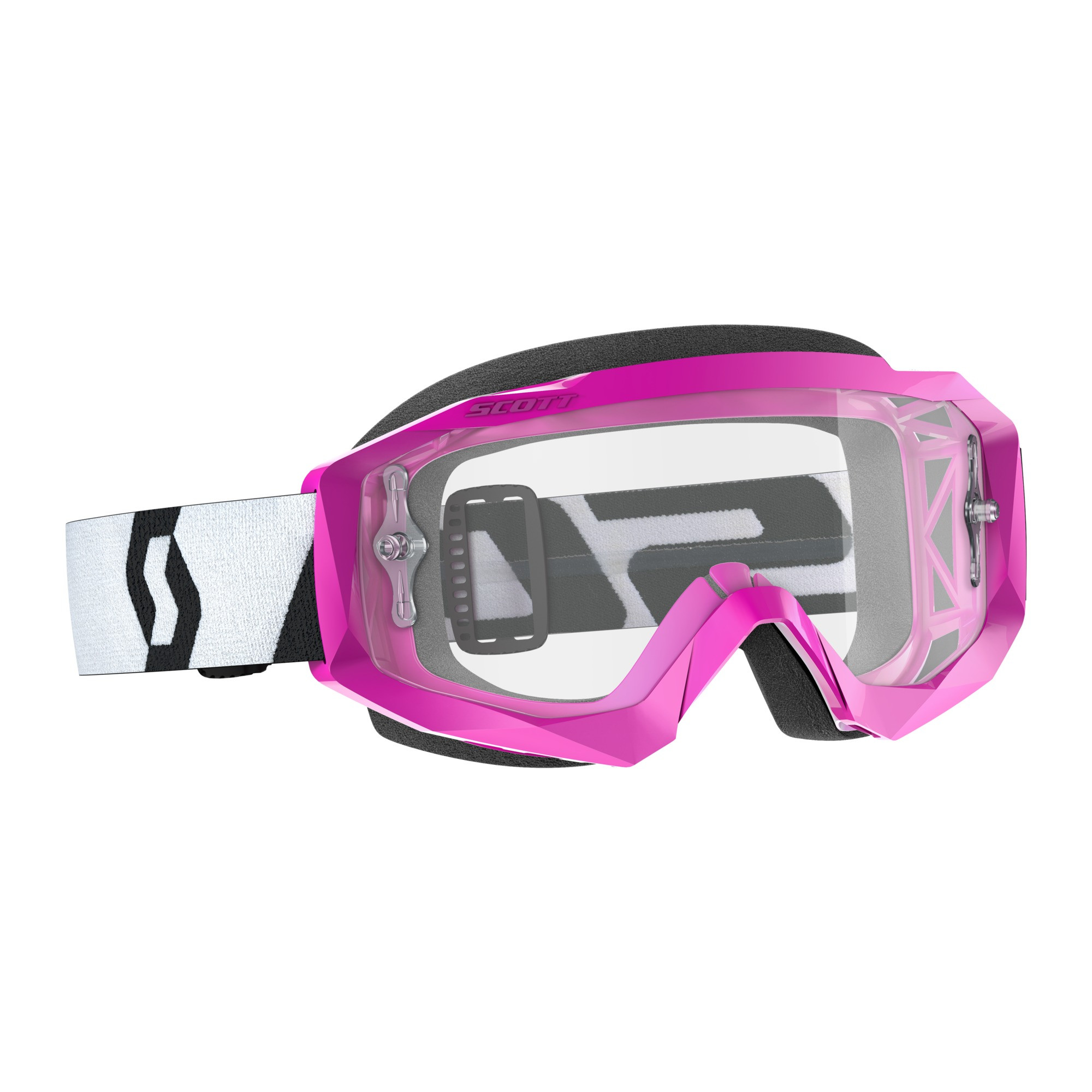 SCOTT GOGGLE HUSTLE X MX WHITE//BLACK LENTE CLEAR WORKS