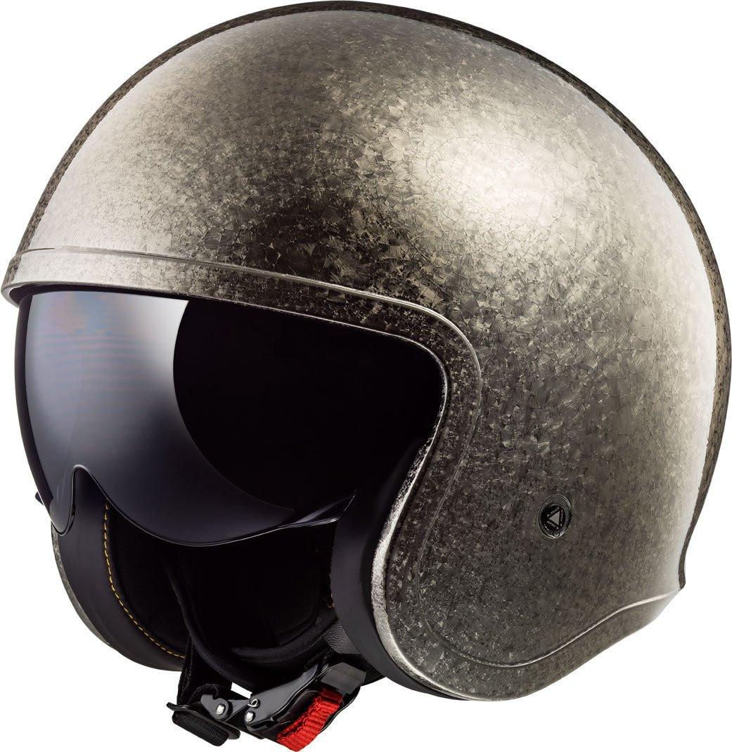 LS2 OF599 Spitfire jet helmet chrome