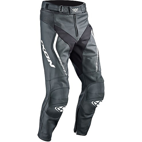 Ixon leather trousers Fighter black white