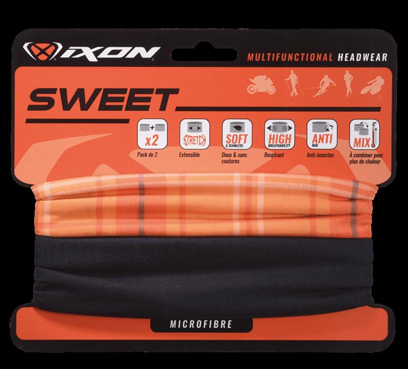 Ixon neck warmer Sweet Square orange black