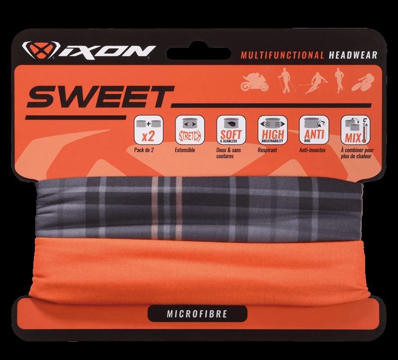 Ixon neck warmer Sweet Square black orange