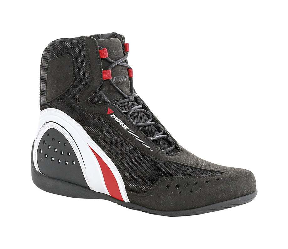 Dainese Motorshoe Air JB shoes Black White Red