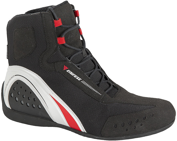 Dainese Motorshoe D-WP JB shoes Black White Red