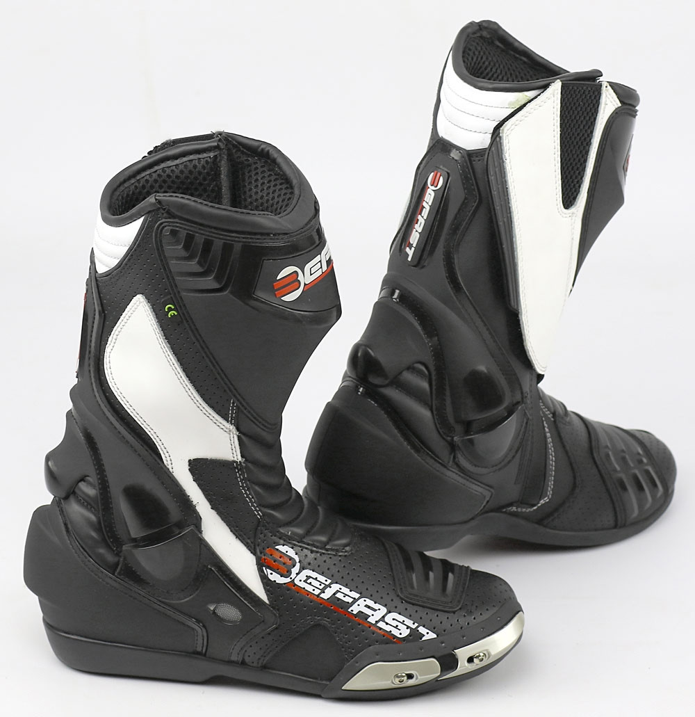 Stivali moto racing Befast Ride nero bianco