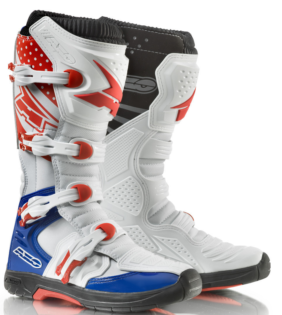 Axo MX One cross boots White Red Blue