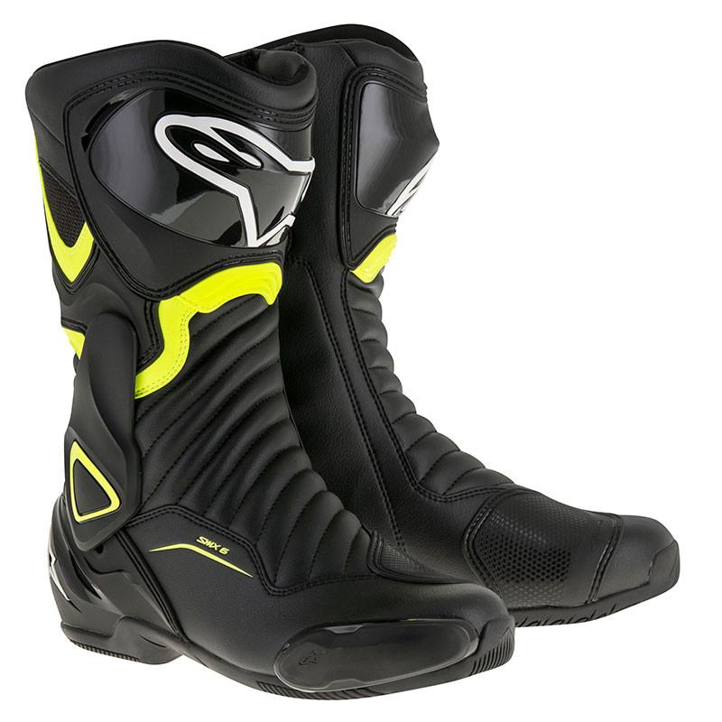 Alpinestars SMX6 V2 racing boots Black Yellow