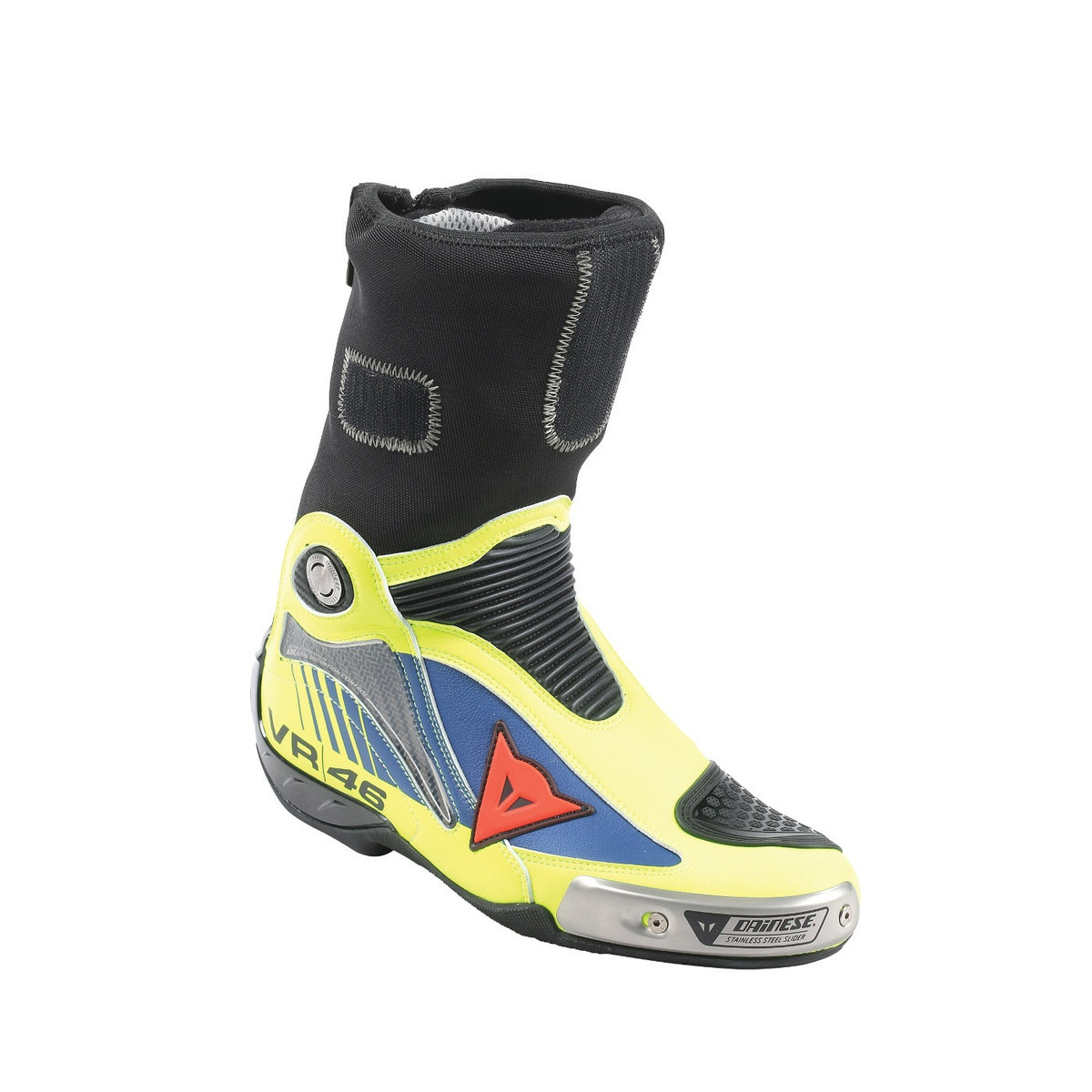 Dainese R AXIAL PRO IN REPLICA D1 BOOTS VAL 16 yellow fluo blue yamaha