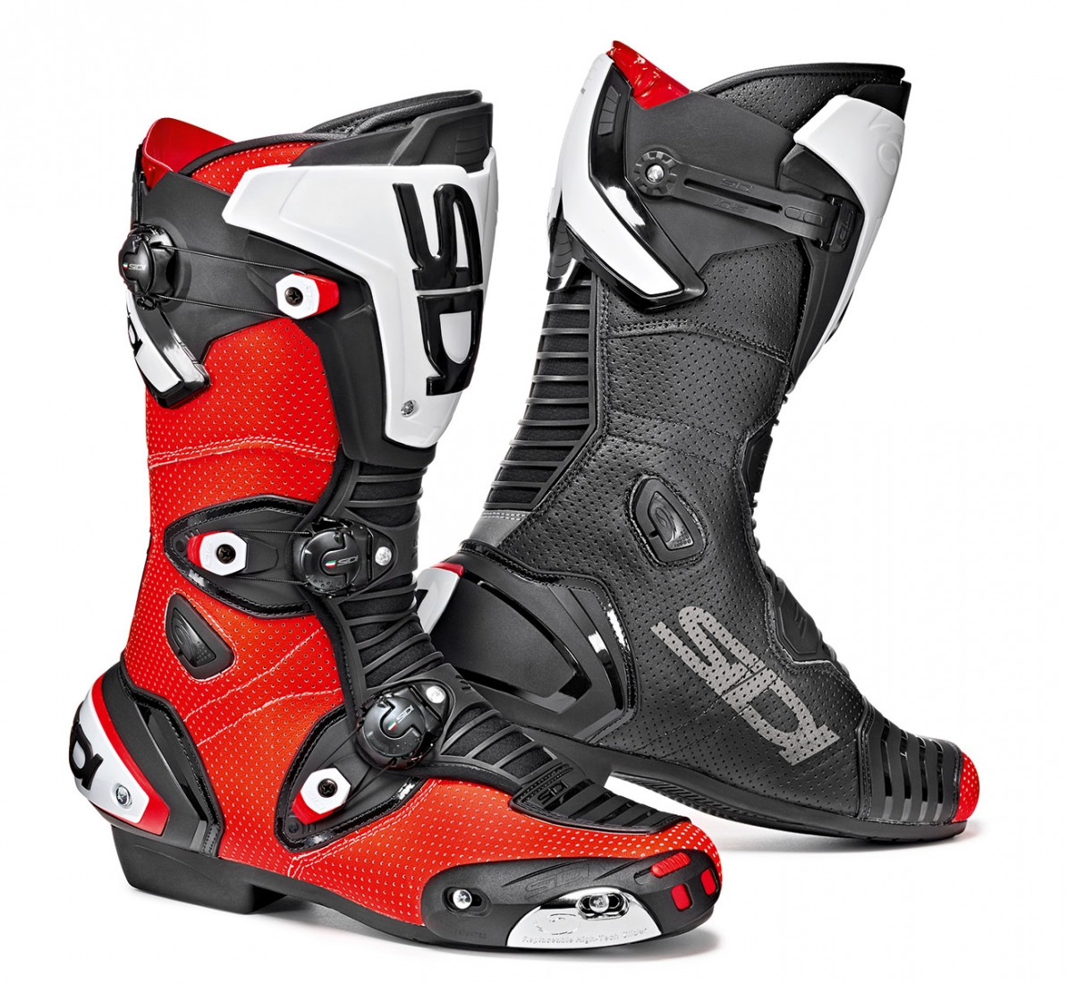 Sidi Mag-1 Air racing boots red fluo black