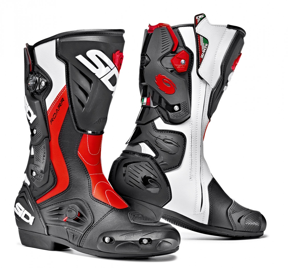 Sidi Roarr racing boots black red fluo white
