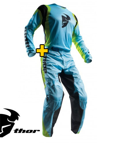 Off-road kit - jersey+pants - Thor Pulse Air Blue