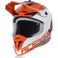 Acerbis LINEAR cross helmet orange white