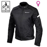 Giacca moto donna Befast STREET Lady CE Certificata Nero