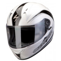Scorpion Full Face Helmet Exo 410 Glide White Black