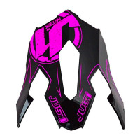 Replacement visor Just1 J12 Carbon Pink Fluo