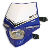 Ufo Plast Stealth headlight single-colour blue reflex