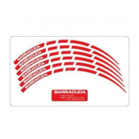 Barracuda universal Stripes kit Red for motorbikes wheels
