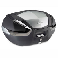 Givi V47 Tech Monokey top case and finishing in anodized aluminum and tinted reflectors