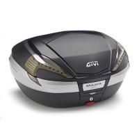 Top case Givi Maxia V56NNT 4 with reflectors smoky black cover and insert carbon look 56 liters