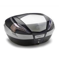 Top case Givi V56NT Maxia 4 56 liters Black smoked reflectors and aluminum
