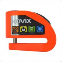 Kovix brake lock with alarm KD6 pin 6mm fluo orange
