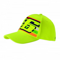 VR46 STRIPES Cap Fluo Yellow