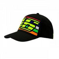 VR46 46 STRIPES CAP Black
