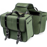 Carburo Racer Canvas pair of side bags Military Green