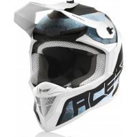 Acerbis LINEAR cross helmet white light blue