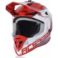 Acerbis LINEAR cross helmet red white