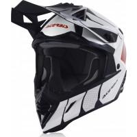 Acerbis X-TRACK VTR cross helmet fiber white red