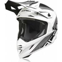 Acerbis X-Track VTR fiber cross helmets Black White