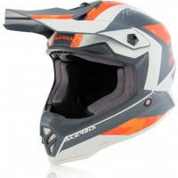 Acerbis Impact Steel junior cross helmet Orange Grey