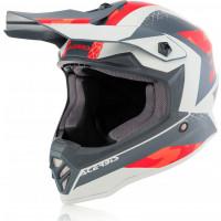 Acerbis Impact Steel junior cross helmet Red Grey