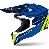 Airoh Wraap Youth Mood child cross helmet blue gloss