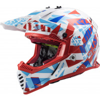 LS2 MX437 FAST EVO MINI FUNKY kid cross helmet RED WHITE