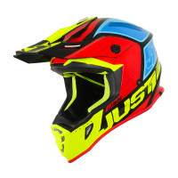 Just1 J38 Blade cross helmet Blue Red Yellow Black