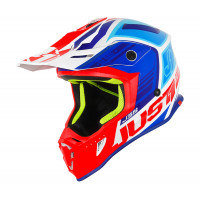 Just1 J38 Blade cross helmet Blue Red White