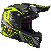 Kyt SKYHAWK DIGGER cross helmet fiber Matt Black Yellow