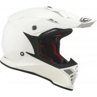 Kyt SKYHAWK PLAIN cross helmet fiber White