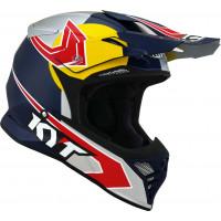 Kyt SKYHAWK TADDY REPLICA cross helmet fiber Blue Yellow