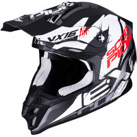Scorpion VX 16 AIR ALBION cross helmet Black Matt White