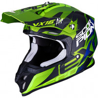 Scorpion VX 16 AIR ALBION cross helmet Green Matt Black